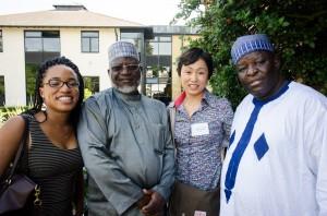 ナイジェリアからたくさんの方がいらっしゃっていました。
